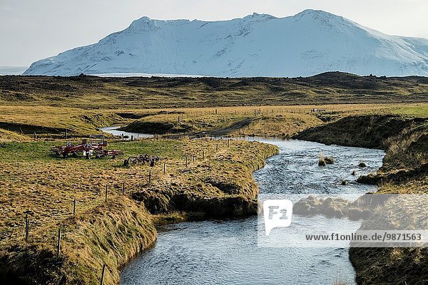 Autumn River  Iceland.