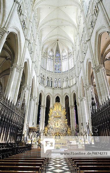 Kathedrale schreiben Gotik UNESCO-Welterbe Altar Amiens katholisch Decke römisch