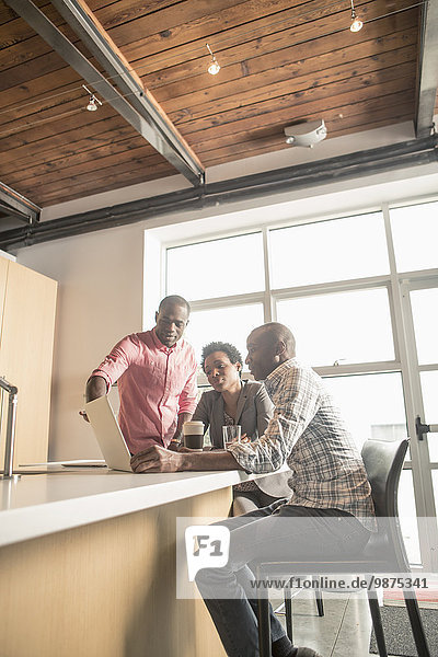 sprechen Mensch Büro Menschen Küche Business