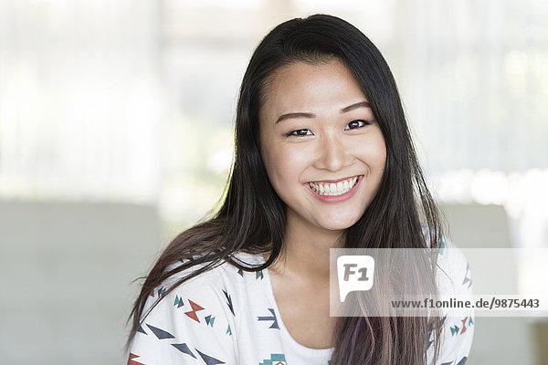 Korean woman smiling