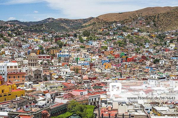 Stadtansicht Stadtansichten Mexiko Ansicht Luftbild Fernsehantenne Guanajuato Stadtansicht,Stadtansichten,Mexiko,Ansicht,Luftbild,Fernsehantenne,Guanajuato
