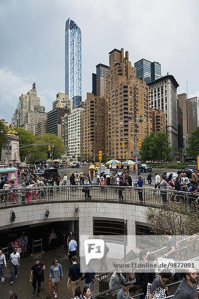 Stufe New York City Amerika Stadtplatz Verbindung Fußgänger