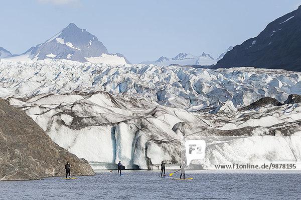 Hintergrund paddeln Kachemak Alaska Bucht Grewingk Glacier