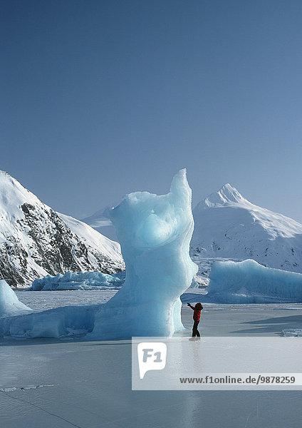 Eisberg Winter See gefroren