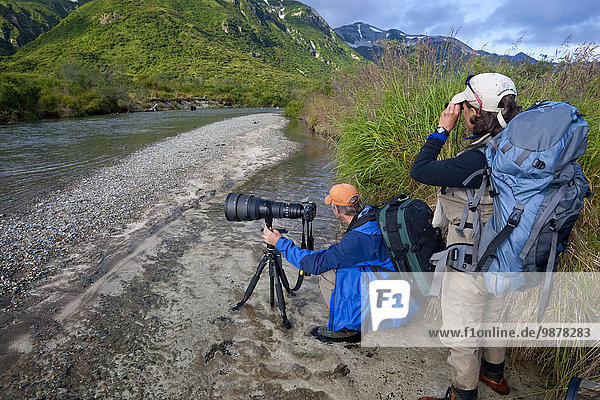 Nationalpark sehen angeln Fotograf Katmai National Park and Preserve Alaska Bucht