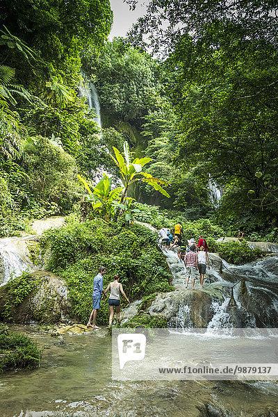 'Mele Maat waterfall; Efate Island  Vanuatu'