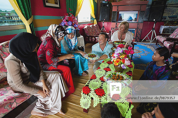 Bandar Seri Begawan Hauptstadt Wohnhaus fließen Tourist Dorf innerhalb