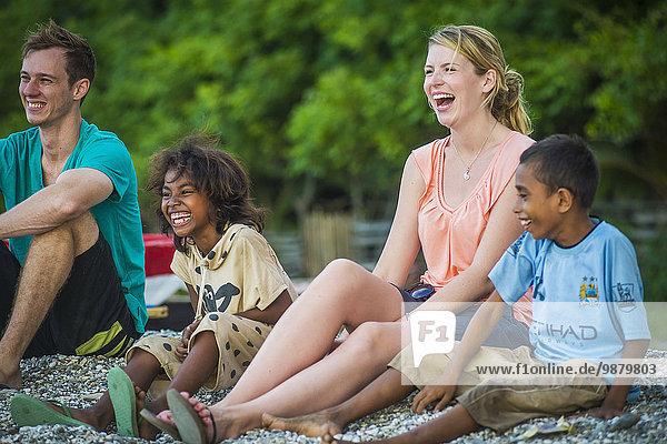 Dili Hauptstadt Strand Tourist spielen