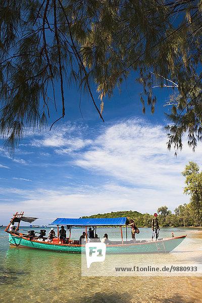 fahren Boot Insel Bambus mitfahren Sihanoukville