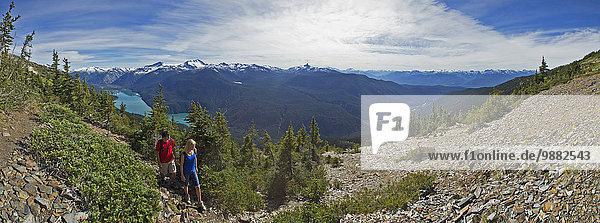hoch oben Berg folgen wandern Whistler Mountain British Columbia