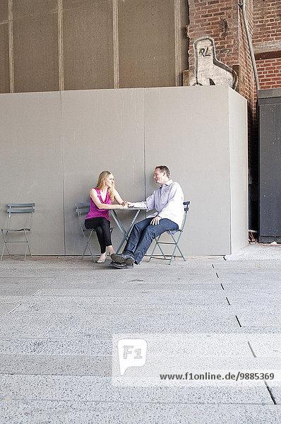 Außenaufnahme halten Tisch freie Natur