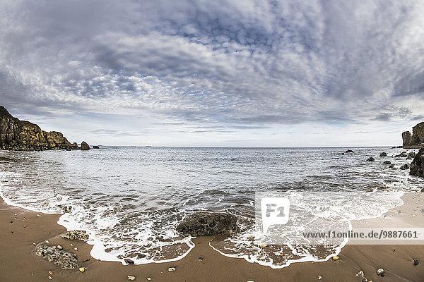 hoch oben Wasser Wolke Strand waschen Himmel England Tyne and Wear