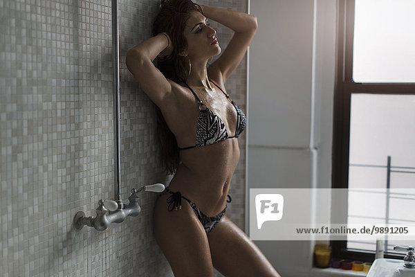 Frau, Bikini, Zimmer