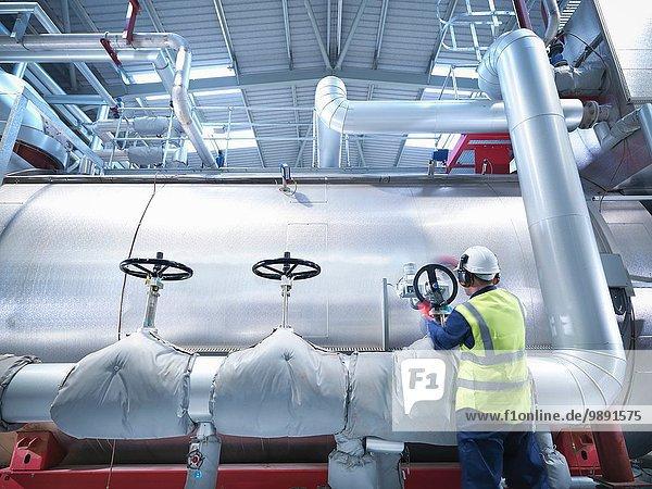 Arbeiterdrehventil eines Gaskraftwerks