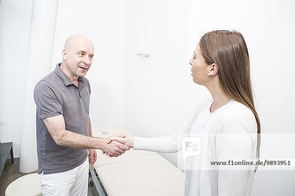 Patientin Physiotherapie