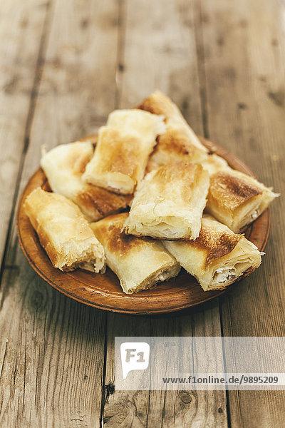Traditionelles bulgarisches hausgemachtes Frühstück Banitsa