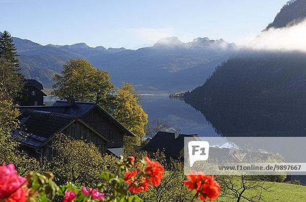 Österreich  Steiermark  Grundlsee am Morgen