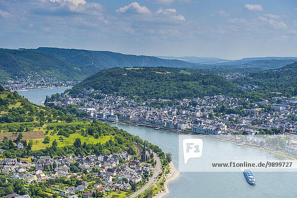 Deutschland  Rheinland-Pfalz  Blick über Boppard und den Rhein