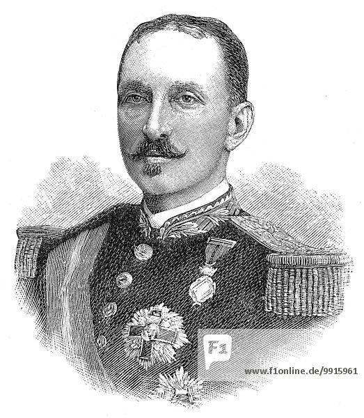 Francisco de Paula de Borbón y Castellví  Duke of Anjou  woodcut