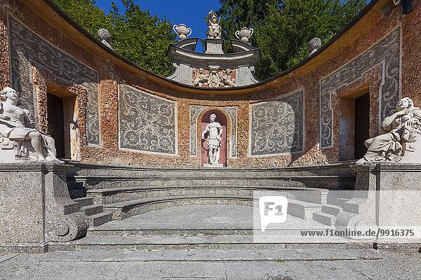 Wasserspiele  Römisches Theater  Schloss Hellbrunn  Salzburg  Österreich  Europa