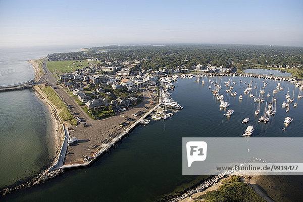 Vereinigte Staaten von Amerika USA Eiche Ansicht Felsenküste Luftbild Fernsehantenne Massachusetts