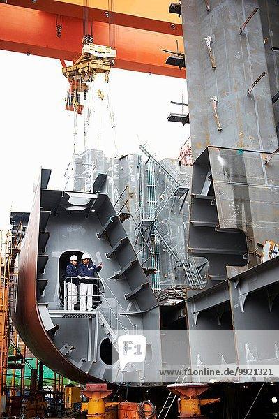 Arbeiter in der Werft  GoSeong-gun  Südkorea