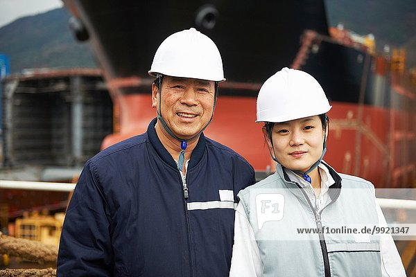 Portrait der Werftarbeiter  GoSeong-gun  Südkorea