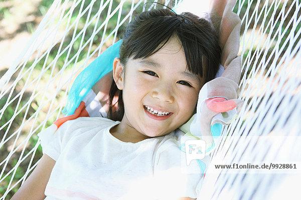 Hängematte Großstadt jung Mädchen japanisch
