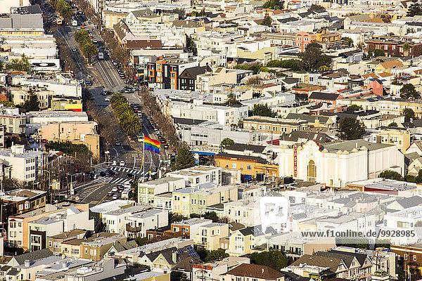 Stadtansicht Stadtansichten Vereinigte Staaten von Amerika USA Ansicht Luftbild Fernsehantenne Kalifornien