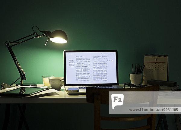 Handy beleuchtet Computer Schreibtisch Nacht Lampe
