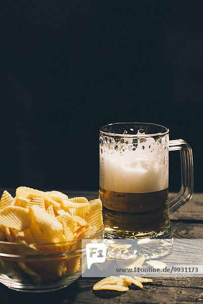 Glas Kartoffel Bier