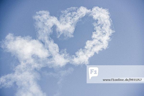 Wolke Himmel blau herzförmig Herz Wolke,Himmel,blau,herzförmig,Herz