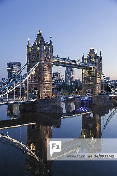 London Hauptstadt Morgendämmerung Brücke England