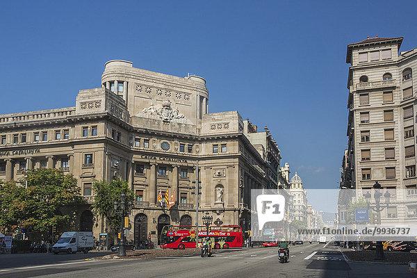 Europa Sommer Großstadt Architektur Tourismus Altstadt Allee Barcelona Katalonien Spanien