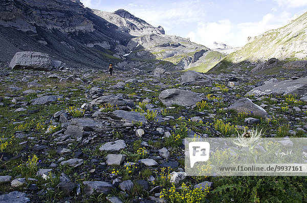 klar Europa Berg wandern Berggipfel Gipfel Spitze Spitzen Hochebene Schweiz