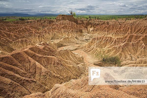 Felsformation Nationalpark Wüste Natur lateinamerikanisch Kolumbien Erosion Südamerika