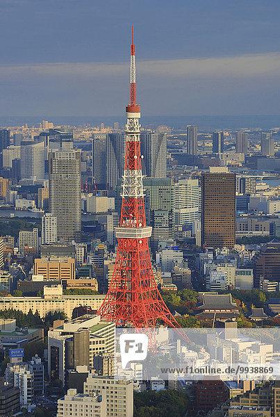Panorama Skyline Skylines Landschaft niemand Reise Großstadt Tokyo Hauptstadt Architektur bunt Hochhaus Tourismus Roppongi Asien Japan