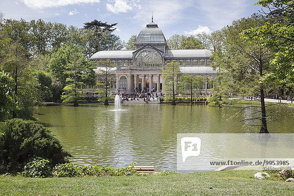 Kristallpalast  Buen-Retiro-Park  Madrid  Spanien  Europa