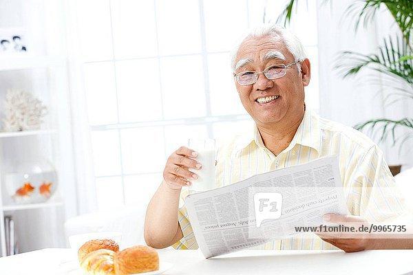 Fröhlichkeit Senior Senioren Frühstück