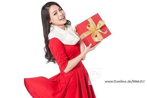 Geschenk junge Frau junge Frauen halten