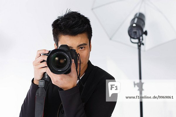 The photographer is taking photos