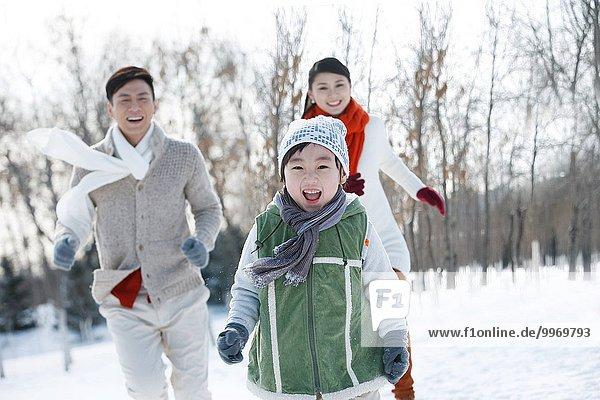 rennen Schnee
