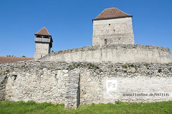 Burg Calnic  UNESCO Weltkulturerbe  Kelling oder Câlnic  Alba  Rumänien  Europa