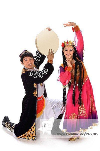 Tradition chinesisch Kleidung Kostüm - Faschingskostüm Ethnisches Erscheinungsbild Verkleidung
