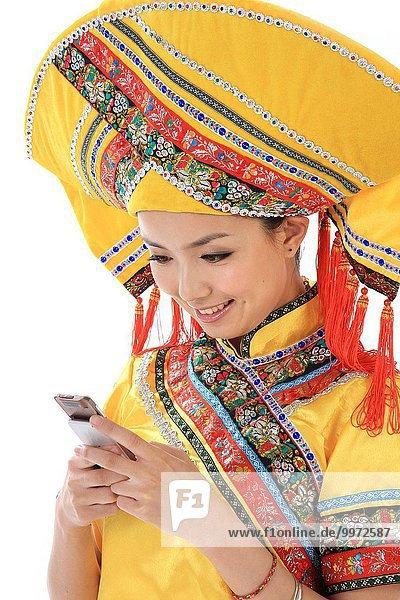 Mensch Menschen Tradition chinesisch Kleidung Kostüm - Faschingskostüm