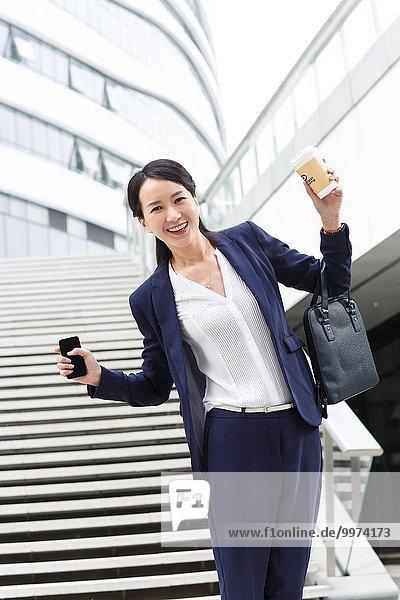 Frau Begeisterung Business