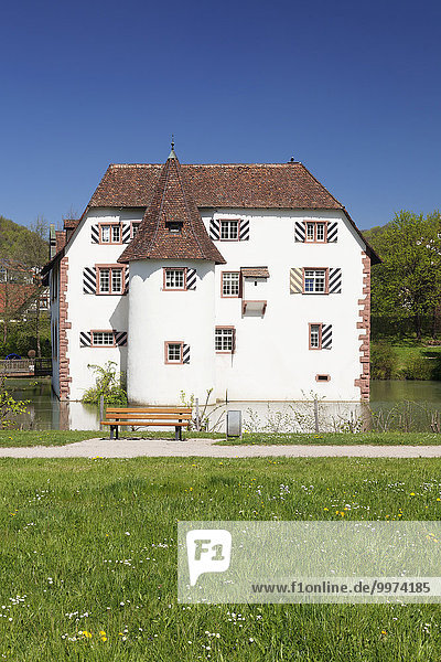 Wasserschloss Inzlingen  Markgräfler Land  Schwarzwald  Baden-Württemberg  Deutschland  Europa