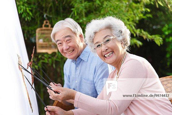 Senior Senioren Schatten Puppe Show