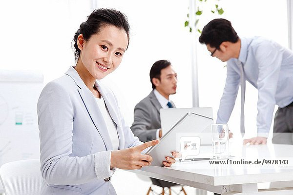 Business men and women working in the Office