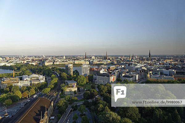 Skyline  Eimsbüttel  Hamburg  Deutschland  Europa